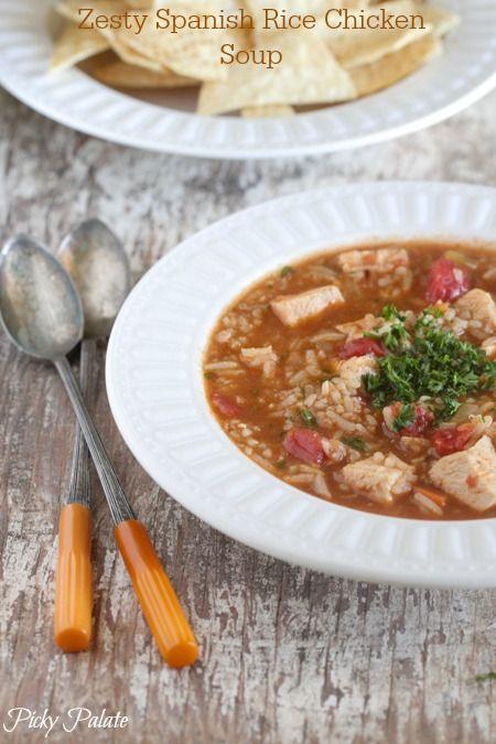 Zesty Spanish Rice Chicken Soup