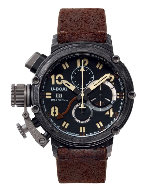U-BOAT Chimera Carbonio 7177 48 mm Limited xxx/199 Automatic Chronograph GMT (Dual Time) - Swiss made watches - SwissTime