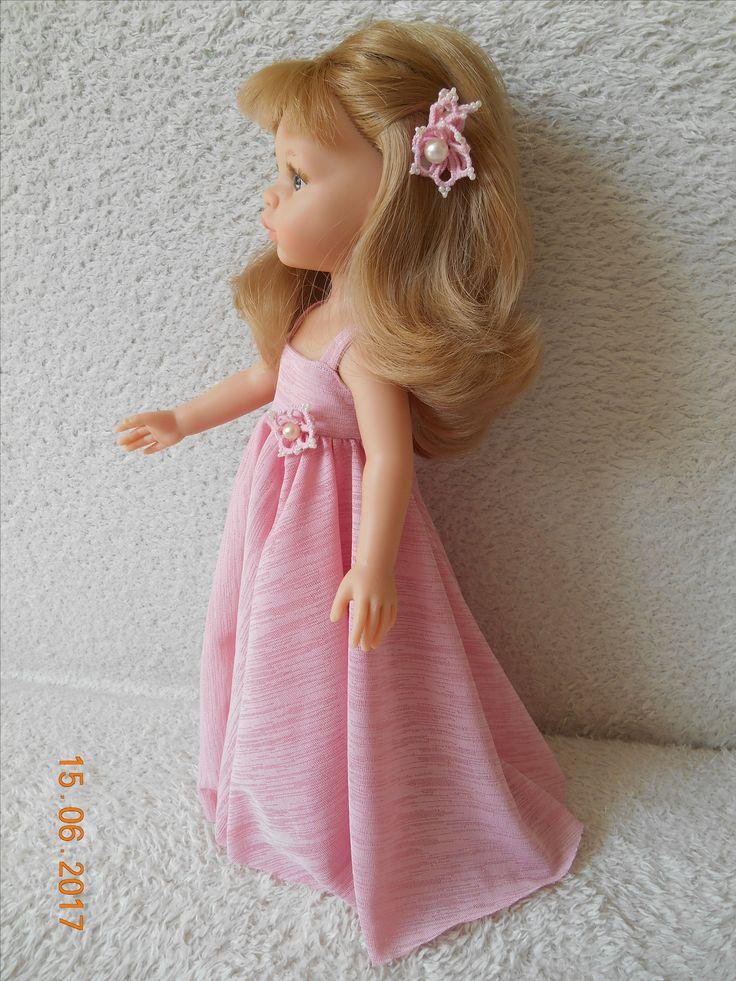 šaty na panenku pro vnučku