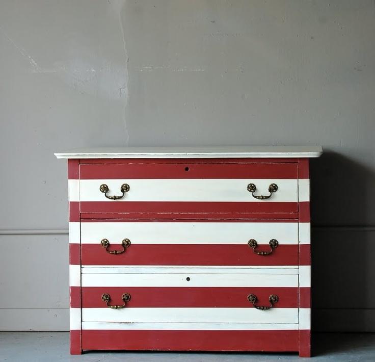 Striped Dresser. Striped DresserPainted DressersPainted FurnitureStriped  FurnitureRepurposed FurnitureChalk ...