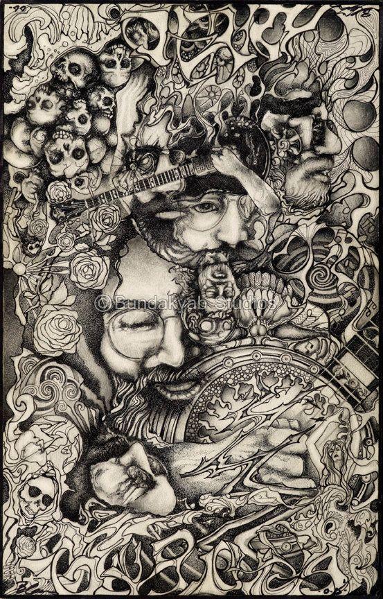 Grateful Dead / Jerry Garcia Gift Ideas for a Dead Head / Museum Quality Archival Print - Asheville, NC