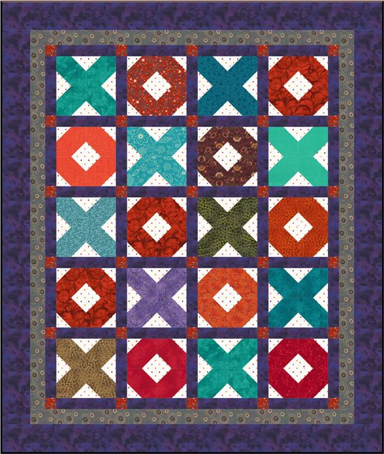 Try X's and O's Whenever You're Looking for an Easy Baby Quilt Pattern: Meet the X's and O's Baby Quilt