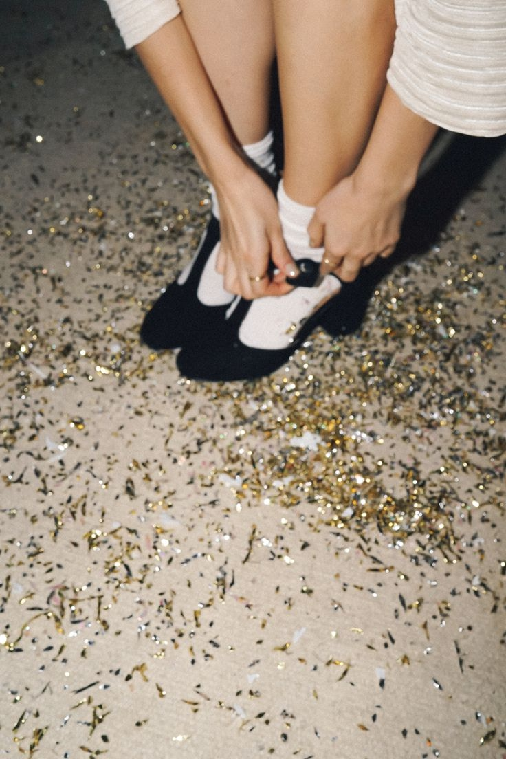 Glitter and shoes