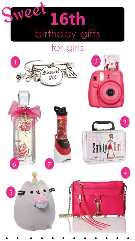 Sweet 16th Birthday Gift Ideas for Teen Girls. Teenager Birthday Gifts for Her. These presents are great for friends, siblings, or even daughter.