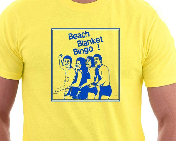 Perfect for your next #Beach Holiday. Celebrate a terrible 1960s beach party movie, while looking smooth and retro on your vacation. Beach Blanket Bingo will get your feet t... #funny #beach #vacation #holiday #sand #summer #lovers #humour #leisure #seaside #movies #cinema