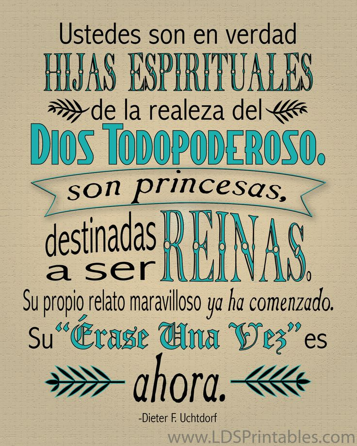 29 best images about frases para princesas sin corona on for Cute lds quotes