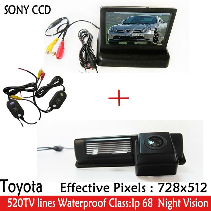 """52.19$  Watch now - http://alire9.shopchina.info/go.php?t=32612259461 - """"Car Parking Kit With 4.3"""""""" WIFI TFT LCD Display Car Camera Monitor+CCD Camera for Toyota HARRIER ALTEZZA PICNIC ECHO VERSO CAMRY"""" 52.19$ #magazineonlinebeautiful"""