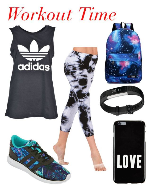 """Workout Time"" by andrea-ward-i on Polyvore featuring adidas, Givenchy and Fitbit"