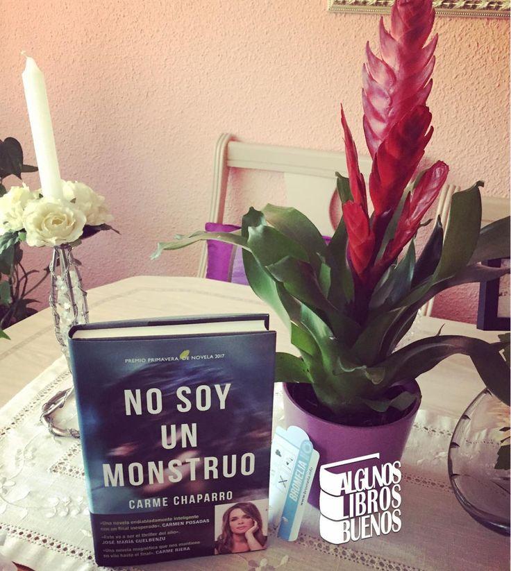 Regalos para el #DíaDeLaMadre  #NoSoyUnMonstruo de @carmechaparro y una preciosa #Bromelia #regalos #regalalibros #regalacultura #planta @espasaeditorial #Espasa #CarmeChaparro #mama #felicidades #madres