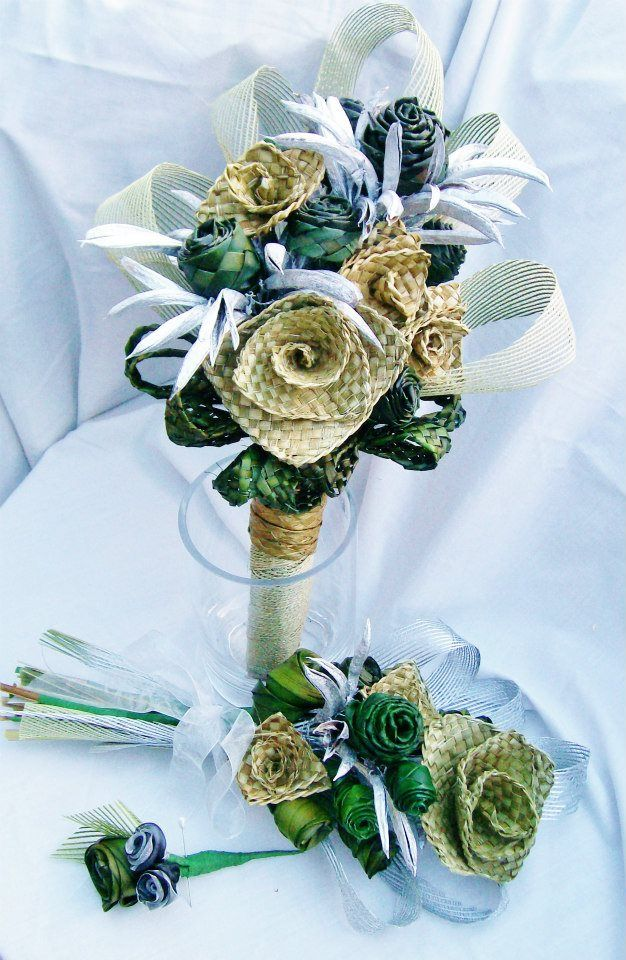 (8) Weddings - Fabulous Flax Flower Bouquets and Arrangements