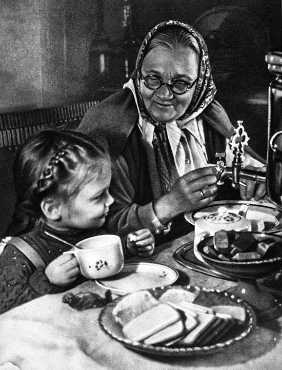 """Little Alla visits her grandma"", 1950"
