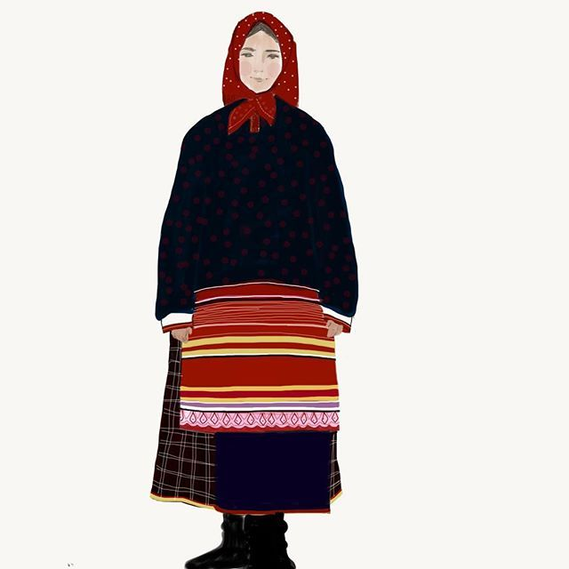 #shreterart  #digitalart #illustration #russian #russiandresss #планшетноетворчество #мойрисунок #шретерарт #русскийнаряд #drawing