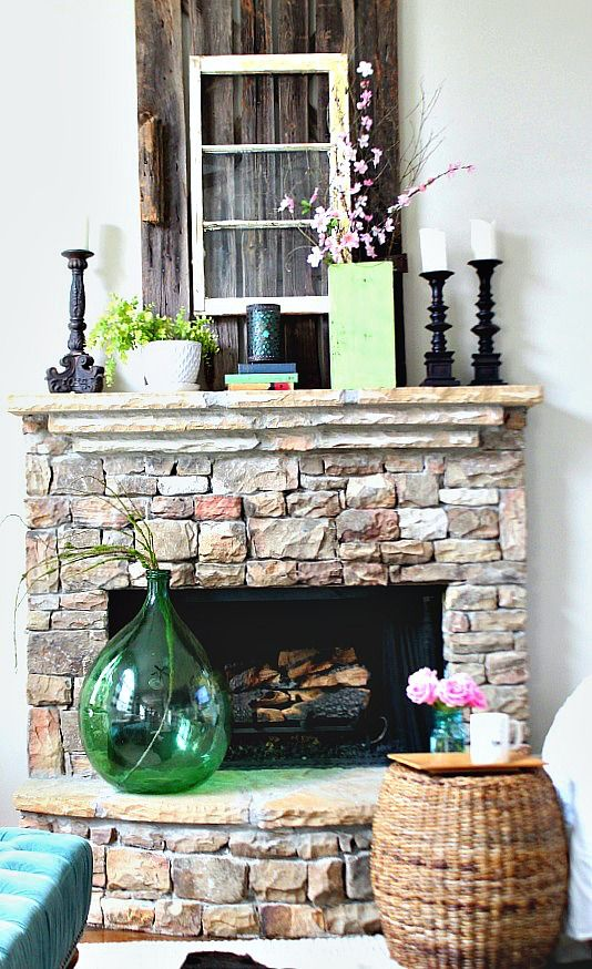 Spring Green Mantel at Refresh Restyle | Refresh Restyle