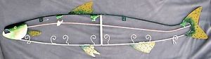"Vintage Coat Hat Rack Hanger Hooks Metal Fish Pink Salmon Rustic Lodge Decor 44"" https://www.ebay.com/itm/Vintage-Coat-Hat-Rack-Hanger-Hooks-Metal-Fish-Pink-Salmon-Rus"