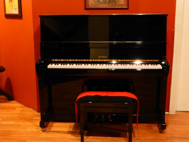 "Serial # 560730 The Petrof piano is 50 inches(4'2"") in height.  http://acpianocraft.squarespace.com/petrof-upright-piano/"