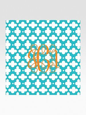 Customized monogram cocktail napkins