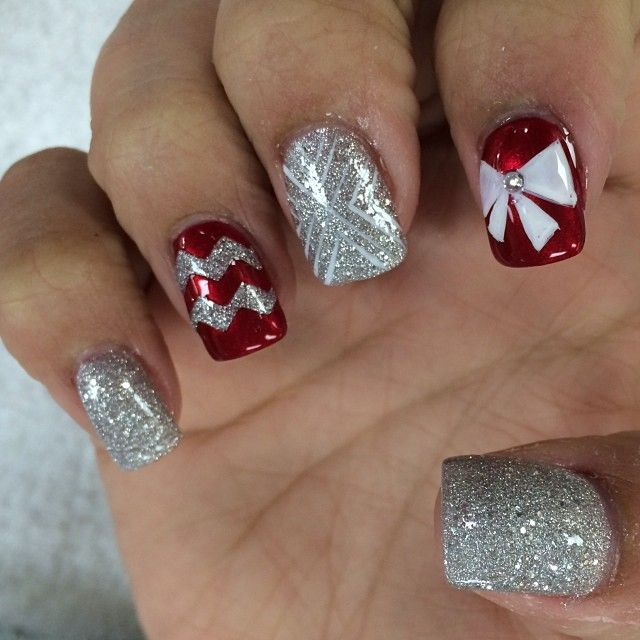 Pretty Nail Designs For Christmas: Design, Nail Design And Silver