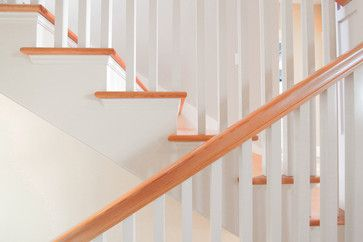Fir railing to match stairs  Greenlake Residence Stair - Craftsman - Staircase - Seattle - First Lamp