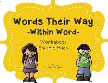 {Free Sample} Words Their Way - Within Word Spellers - Worksheets