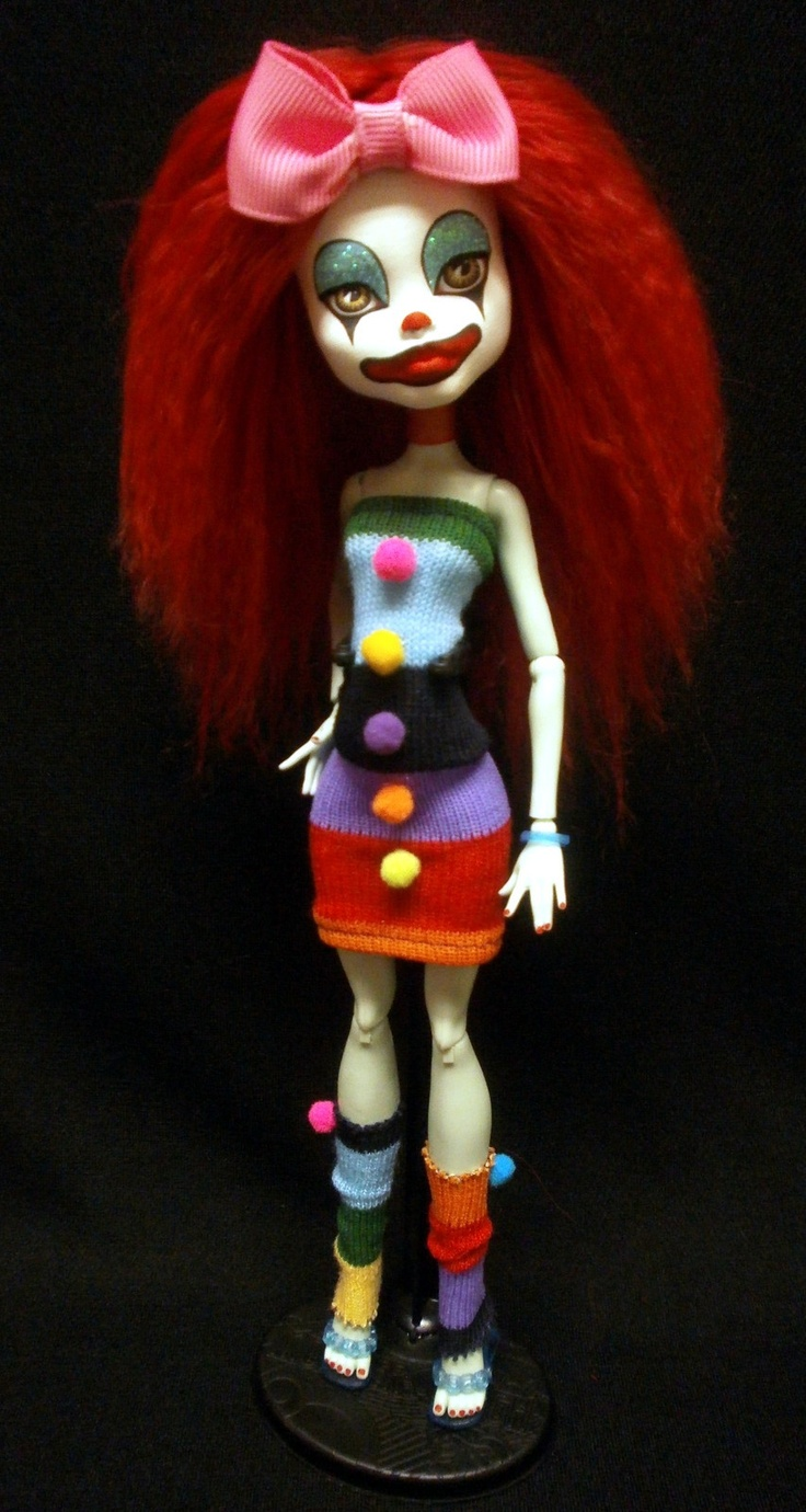 Trixie OOAK Beautiful Clown Monster High Repaint by Lendz | eBay