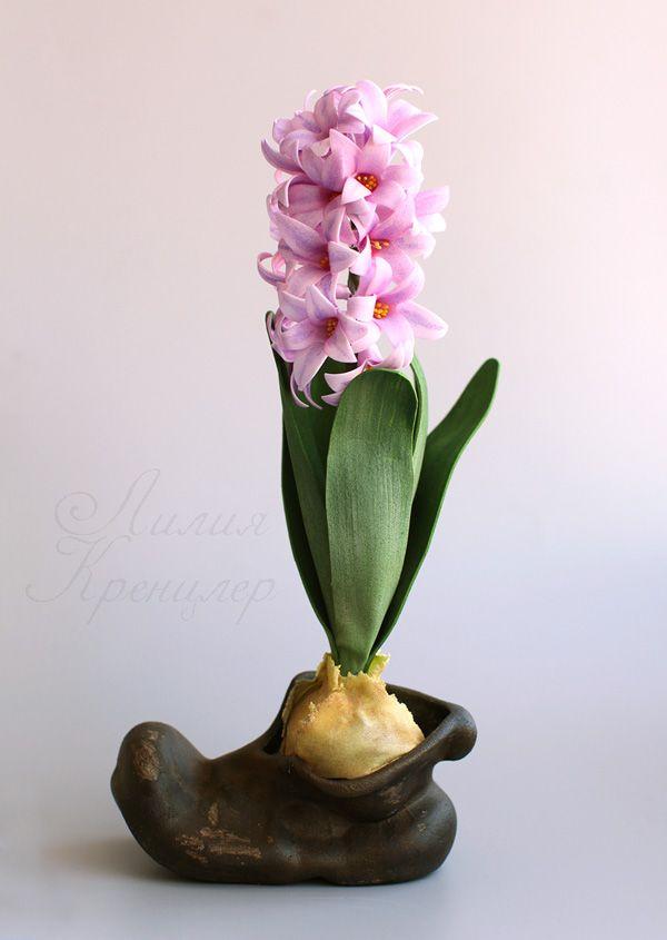 гиацинт, гиацинт из фоамирана, мастер-класс, цветы из фоамирана