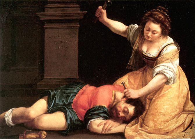 L'esempio di Artemisia Gentileschi. Arte, carriera e violenza sessuale. Processi farsa, ritorsione della colpa, silenzio, omertà. Interviste anziani.