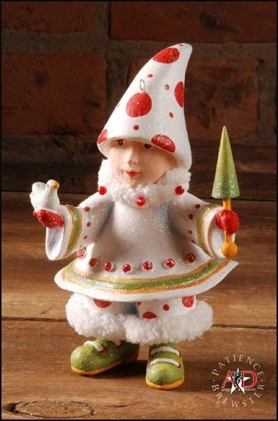 """PATIENCE BREWSTER 2012 BLITZEN'S TREE ELF ORNAMENT Dimensions: 4.5"""" x 2.5"""" Primary Material: Stone Resin Painted entirely by hand! Each piece is an individual work of art! Your Price: $37.00"""