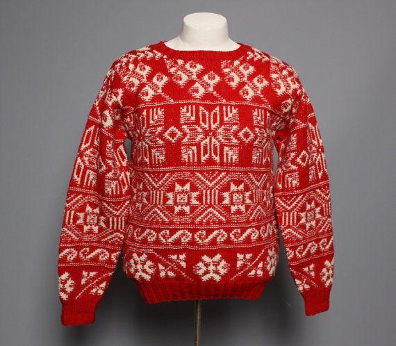 80s Men's CHRISTMAS SWEATER / Ralph Lauren