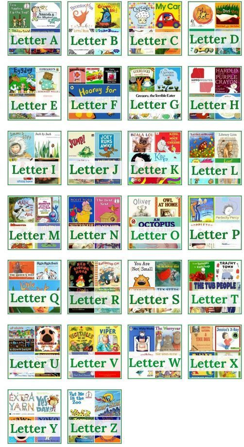 Letter of the Week Book List (from The Measured Mom)