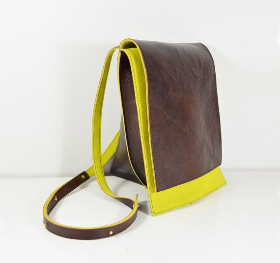 Celeste Handmade Brown Leather Hide Shoulder Bag by delacyonline