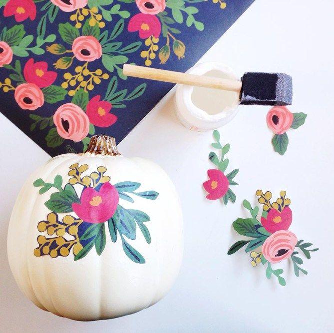 No Carve Decoupage Pumpkins // Gold Standard Workshop