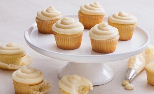 Cupcakes classiques à la vanille