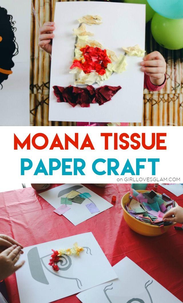 Moana Tissue Paper Craft on www.girllovesglam.com