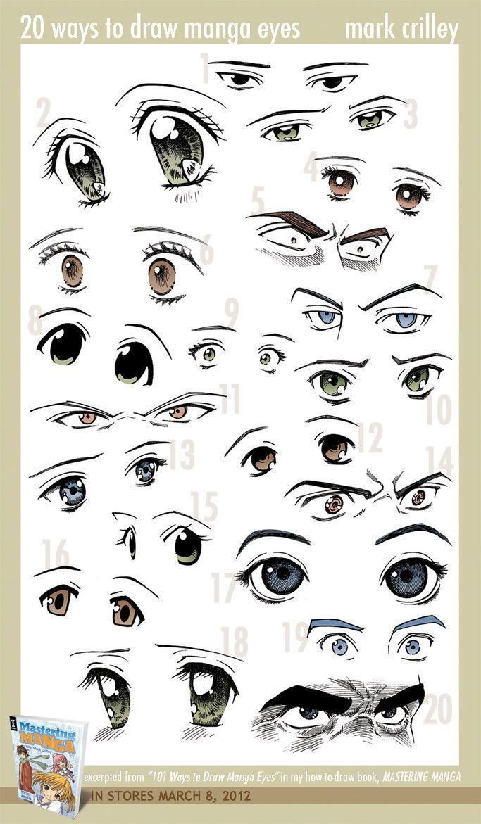 20 Ways to Draw Manga Eyes by ~markcrilley on deviantART