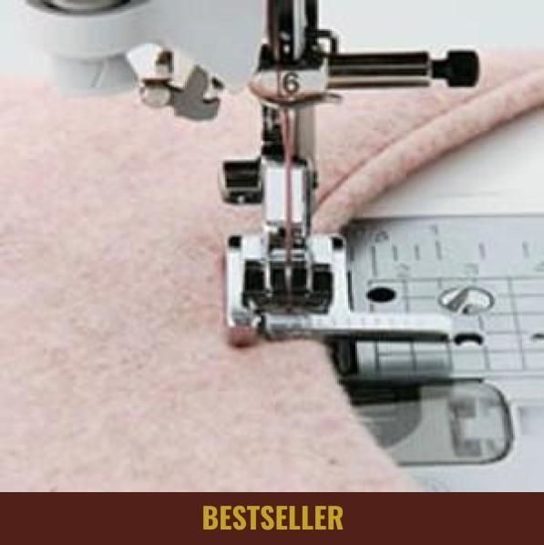 This Presser Foot With a Ruler can easily sew the precise equidistant parallel lines you want while topstitching.