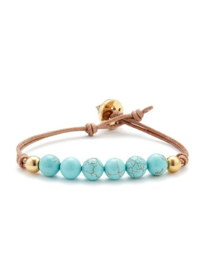 Bead & Leather Friendship Bracelet by Ettika Jewelry ✿Teresa Restegui http://www.pinterest.com/teretegui/✿