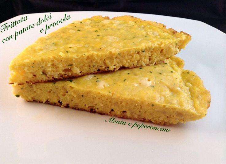 Frittata con Patate Dolci e Provola - Menta e Peperoncino
