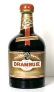 "Drambuie is a sweet, golden-coloured 40% ABV (70-proof) liqueur made from malt whisky, honey, herbs and spices. The name ""Drambuie"" derives from the Scottish Gaelic phrase an dram buidheach, ""the drink that satisfies."" Drambuie received the highest possible score, a ""96-100"", in the Wine Enthusiast's 2008 spirit ratings competition."