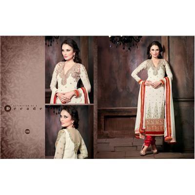 Buy Durga Emporio Resham,Stone Embroidery With Velvet Strip Border suit by Sold By Durga Emporio, on Paytm, Price: Rs.3535?utm_medium=pintrest