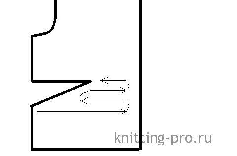 Частичное вязание. Укороченные ряды. Лицевая гладь. - knitting-pro.ru - От азов к мастерству