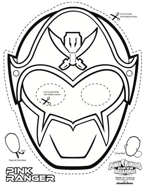 power ranger mask printable - Google Search