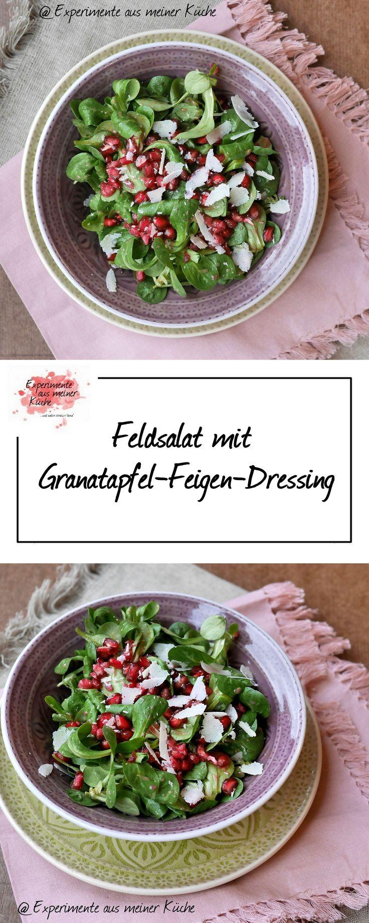 Feldsalat mit Granatapfel-Feigen-Dressing   Rezept   Essen   Vegetarisch