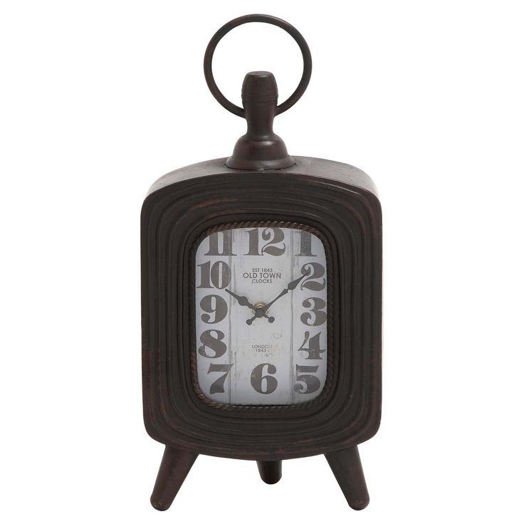 DecMode 8 in. Metal Table Clock - 18106