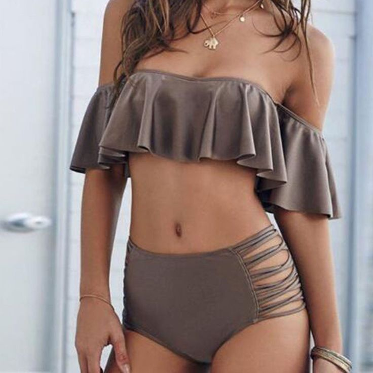 Women High Waist Bikini Set