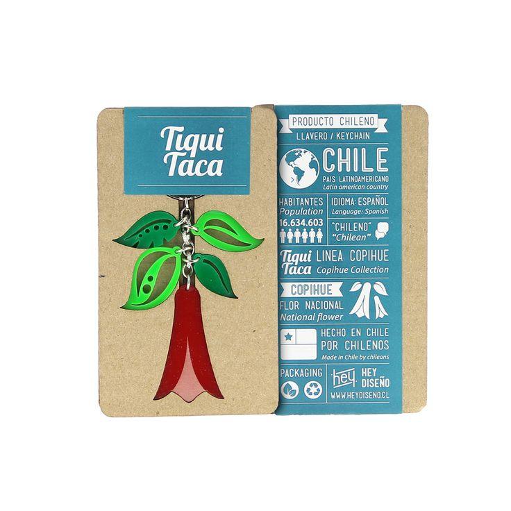 Llavero Copihue | TiquiTaca Chile's National Flower keychain. #madeinchile #chileandesign