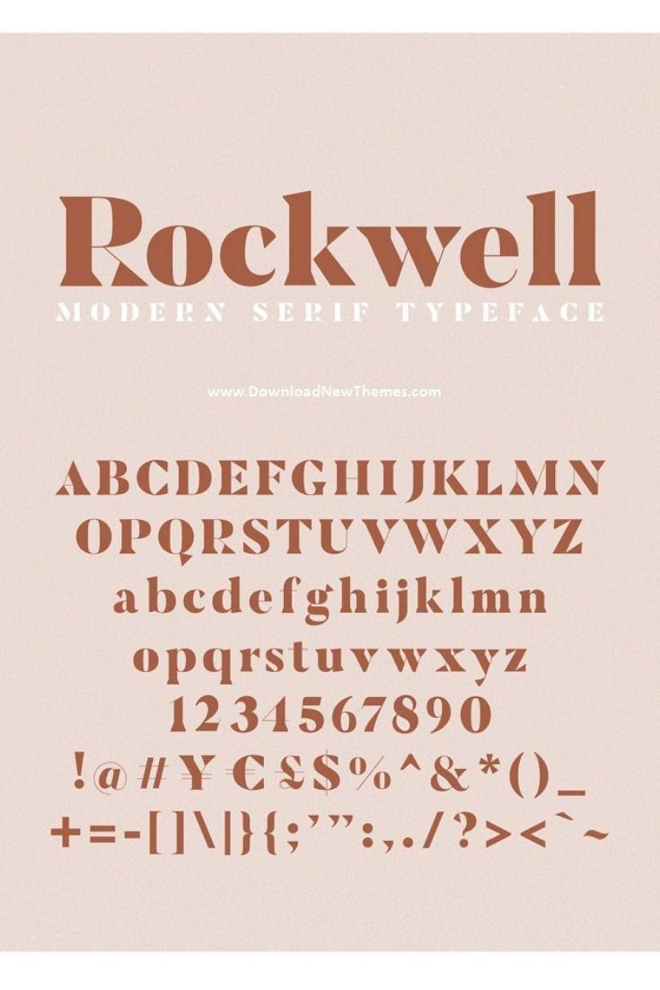 ROCKWELL- Modern Serif Font | Modern serif fonts ...