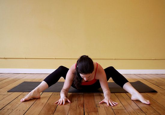 Grounded Wide Squat to Ease Your Tight Hips and Lower Back - When your lower back is sore from running or sitting all day, here's a relaxing stretch to target that area and open the hips.