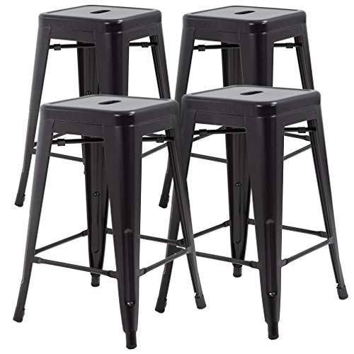 Fdw Metal Stools Bar Stools 24 Inch Counter Height Stacka Https