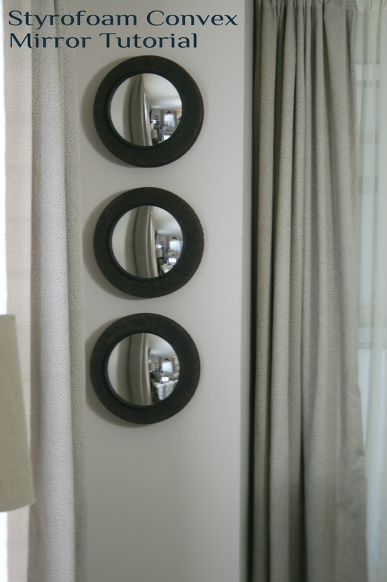 I love convex mirrors for decorating! unbreakable security mirrors