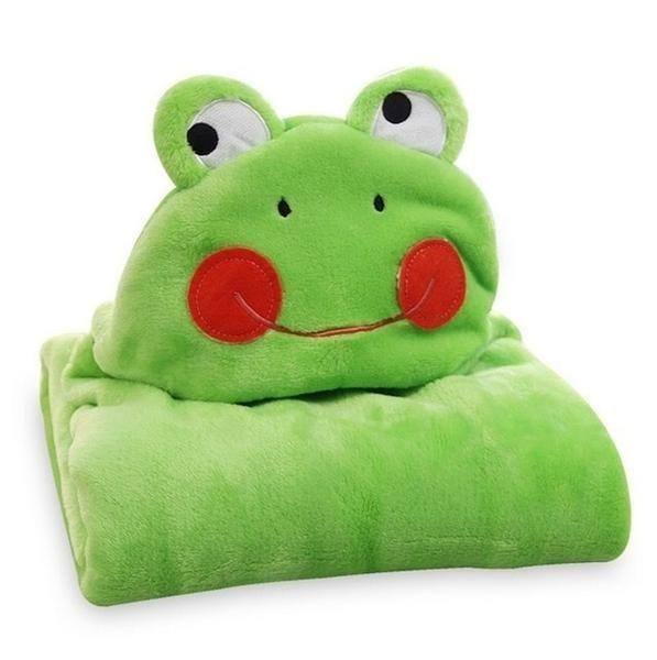 "Hooded /""Frog/"" Baby Blanket"